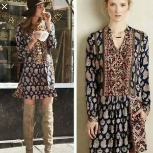 Anthropologie - Tiny Boho Shirtdress
